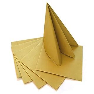 Deko Angels 100 Stück Servietten Gold Weihnachten Advent Stoffähnlich 40 X  40 Cm Zum Falten Weihnachtsservietten