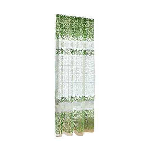 Pannello drappo finestra di filato di vetro cortina pura sciarpa mantovana decorazioni per la casa verde