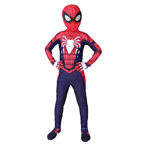ASJUNQ PS4 Spiderman Kostüm Kinder Erwachsene Bodysuit Spandex Overalls Rollenspiel Kleidung,Children-L