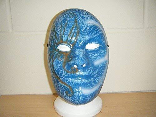 WRESTLING MASKS UK Johnny 3 Tränen alt Schule Hollywood Untot Band Kostüm geschnürt Ringer Maske Erwachsene ()