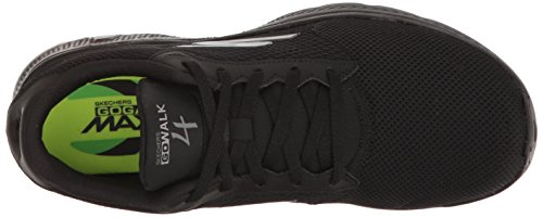 Skechers Go Walk 4, Baskets Basses Homme Black Knit