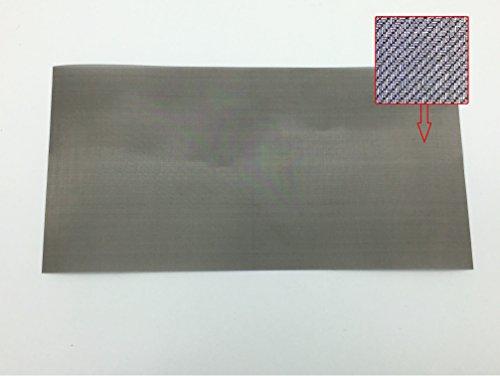 Edelstahlsieb | Mesh 300 50my | ESS | Edelstahlsiebgewebe | Stainless Steel Mesh | Sieb Filter | 200mm x 100mm (Mesh)