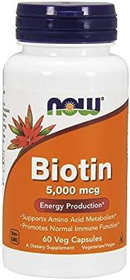 NOW Foods Biotin 5000mcg VCaps 60&#
