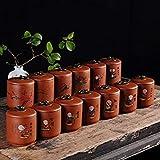 No 4 : Handmade Storage Bottles JarsTea Caddy Tea Sets Zero Accessories TeaSet Canister Ceramics Sealed Cans Kungfu Tea Storage Tanks