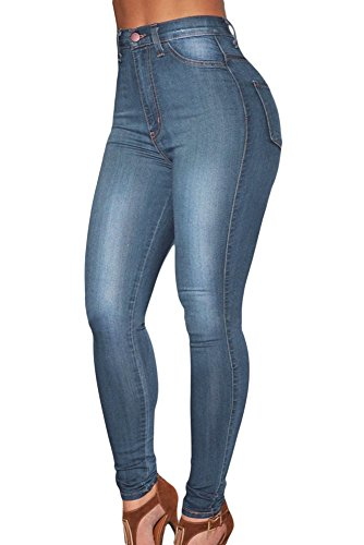 Denim high-waist Skinny Jeans Casual Wear Club Wear S ize L UK 12–14 (Club-wear Für Frauen)