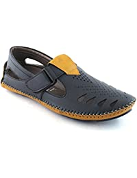 Jerkey Stylish Men's Casual Canvas Sandal In Black Colour, Sandals For Mens Stylish, Casual Sandals For Mens,...
