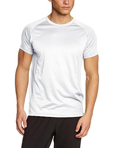 Lower East atmungsaktives Herren Freizeit und Funktions T-Shirt mit Rundhalsausschnitt, in verschiedenen Farben, Gr. Medium, Weiß