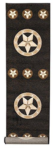 Rugs 4Weniger Collection Texas Lone Star State Neuheit Bereich Teppich in Schwarz 78Schwarz 2FT 4in x 10ft 8in - Bereich Teppich 8x10