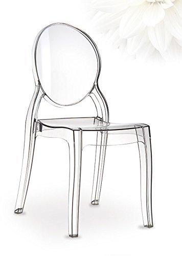 Ghost Plexiglas chair Stuhl Elizabeth Transparent Durchsichtig. Abbildung in Transparent klar (Keine China Ware = Qualität).