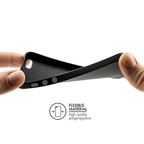 Original QUADOCTA® Tenuis Case für das iPhone SE / 5s / 5 in schwarz aus Polypropylen ULTRA SLIM 0,35mm Schwarz