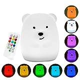 Lumisky Ours Lumineux Multicolore sans Fil sur Batterie Teddy à LED RGB 19cm,...