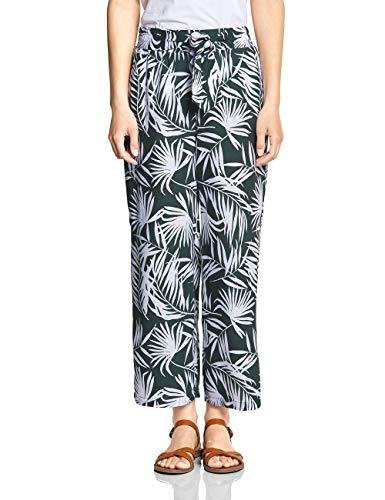Hose Jeans Wide Leg Jeans (Street One Damen 372252 Hose, Chilled Green, W/L26(Herstellergröße:34))