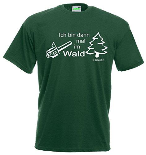 Schlüter T-Shirt   Ich Bin Dann Mal im Wald   Grün   Größe L