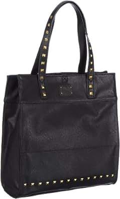 Mexx 13eaw062 Studded Shopper Line 3FEWB009, Damen Henkeltaschen, Schwarz (Black 001), 34x36x8 cm (B x H x T)