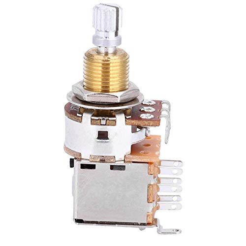 RiToEasysports Potentiometer Gitarrenpotentiometer Mini-Potentiometer A500K E-Gitarre Linearpotentiometer Tone Pull Button Switch Pot Pickup Switchvon A500k Potentiometer
