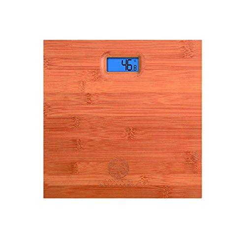 WAOBE Bilance elettroniche per uso casalingo Zebra Square Square Bilancia per la salute del corpo in legno Design antiscivolo ambientale Bilancia da bagno di alta qualità
