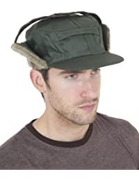 Mens Water Proof Thermal Trapper Hat with Ear Flaps