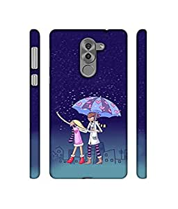 RABOTAC Couple Walk Rain Design 3D Printed Hard Back Case Cover for Huawei Honor 6X
