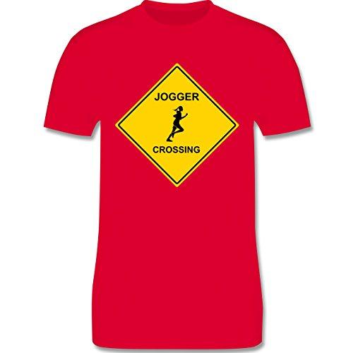 Laufsport - Joggerin - Herren Premium T-Shirt Rot