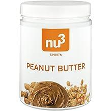 nu3 Erdnussbutter / Peanut Butter, 1kg - pure natürliche Erdnussbutter / Erdnussmus Vegan und ohne Zucker oder sonstige Zusätze von Salz, Öl oder Palmfett, mit 28g Protein pro 100g