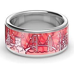 ZEBRA Istanbul Ring Silber (Red-Rose, 56 (17.8))