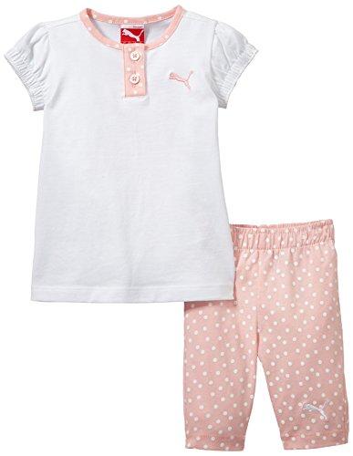Puma Basic Ensemble T-shirt + Legging - L Fille White/Crystal Rose Aop FR