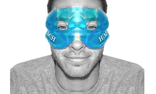 Eccelente maschera gel riutilizzabile, sia calda che fredda, che aiuta a lenire occhi gonfi, occhi stanchi, mal di testa, postumi di una sbornia, emicranie e occhiaie.