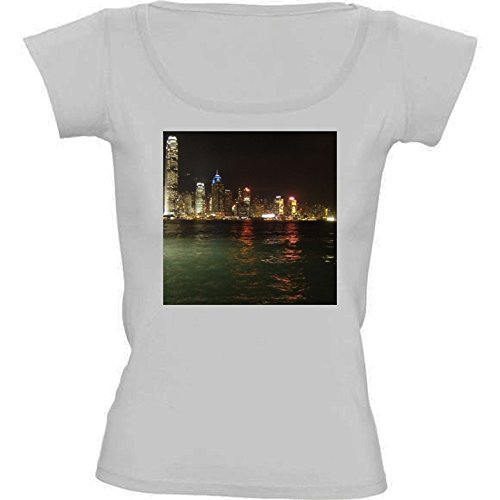 camiseta-blanca-con-cuello-redondo-para-mujeres-tamano-m-hong-kong-horizonte-by-cadellin