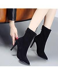 HGTYU-La nueva temporada de otoño e invierno y mujeres sexy botas fina con pierna estirada fina arranca un simple...