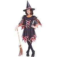 Disfraz de Bruja Niña Encantadora Infantil 7 - 9 años Halloween Disfraces