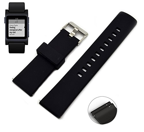 vicara-22mm-pebble-2-watch-band-heart-rate-silicone-strap-with-metal-clasp-rubber-wrist-band-with-qu