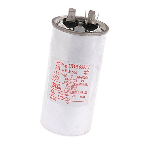 Sharplace CBB65 AC 450V 50/60HZ Start Motor Kondensator Motorkondensator Anlaufkondensator - 30uF (Hz-motor 60)