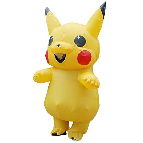 FYBR Neues gelbes aufblasbares Pikachu-Kostüm Halloween-Kostüm für Kinder und Erwachsene Aufblasbares Kostüm-Party-Kleid-Kostüme für Erwachsene - Neue Kostüm Für Erwachsene