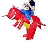 Aufblasbarer Kostüm,Party Overall Kostüme | Aufblasbarer Karneval Lustige Kleidung | Dinosaurier/Einhorn Cosplay Inflatable Carnival Funny Clothes Dinosaur T-Rex Cosplay Für Kinder and Erwachsener (Rot Dinosaur Kinder)