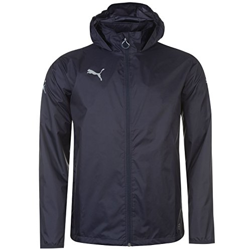Puma Herren Essential Regenjacke Blau UK Large