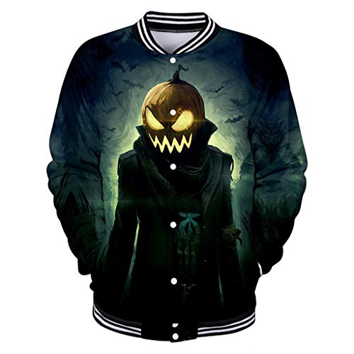 Brauner Trenchcoat Kostüm - KPILP Herren Halloween Kostüm Outwear Mantel Jacke 3D Drucken Swearshirt Hoodies Pullover Druckknopf Baseballuniform Herbst Winter Jacken