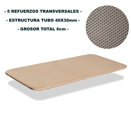 Bonitex-Base-tapizada-3D-90x190cm-5-refuerzos-transversales-grosor-6cm-transpirable-color-beige-sin-patas