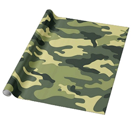 Confettery - Verpackung Geschenkpapier Camouflage 1 Stk., Grün