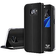Housse Samsung Galaxy S7 Edge, SAVFY® Etui de Protection à rabat Pour Samsung Galaxy S7 Edge (Noir)