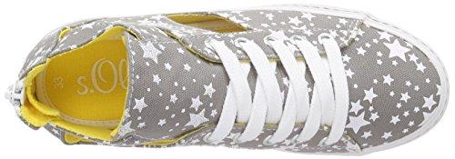 s.Oliver - 43208, Scarpe da ginnastica Bambina Bianco (Weiß (GREY/WHITE 211))