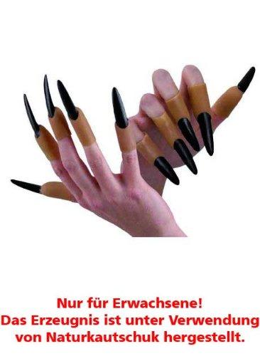 Fingernägel Halloween Vampir Dracula Naturkautschuk - Kürbis Halloween-nägel