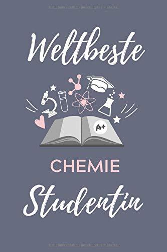 WELTBESTE CHEMIE STUDENTIN: A5 Geschenkbuch PUNKTIERT für Chemie Fans | Geschenk fuer Studenten | zum Schulabschluss | Semesterstart | bestandene Pruefung | Chemiker | Studium