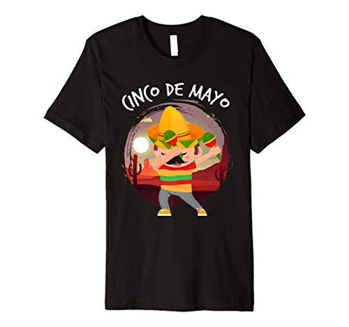 Abtupfen Mexican In Sombrero Poncho Cinco De Mayo T-Shirt