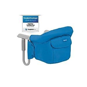 Inglesina AY90G5MAR Tischsitz passend für fast alle Tische Ihr Kind kann mit Ihnen ganz normal am Tisch sitzen, Blau…