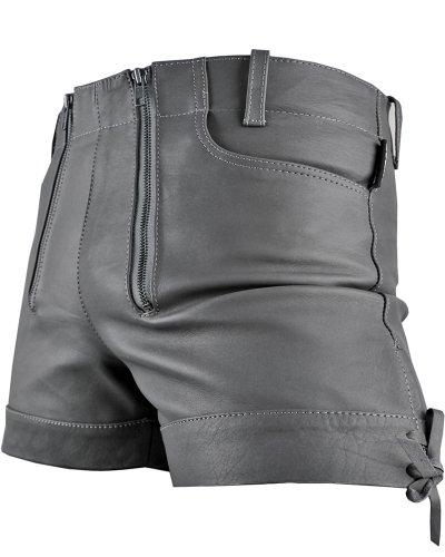 Kurze Zimmermann Lederhose Leder Short Bockle® Gray Pants Oktoberfest Grau