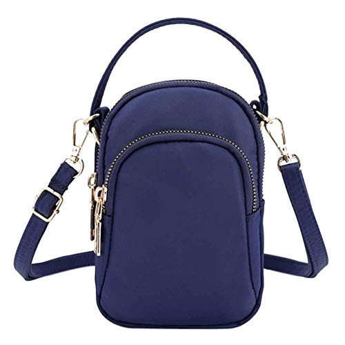 Frauen Mini Bag Fashion Frauen Schulter Messenger Bag Leichte Nylontasche Solide Zipper wasserdichte Flap Bag (Color : DB, Size : Mini(Max Length(20cm)) - Flap-kleine Satchel