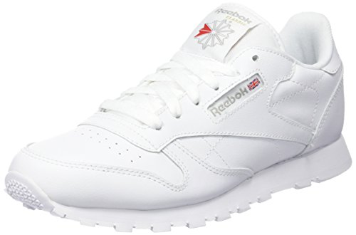 Reebok Classic Leather GS, Unisex-Kinder Sneaker, Weiß (White), 38.5 EU (Gs Jungen Sneakers)