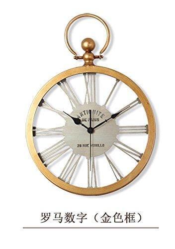 OOFYHOME Wanduhr LED Uhr American Country Uhr Mode Art Uhr Digitaluhr  Stille Nicht Tickende Uhr
