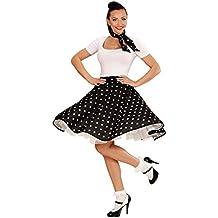 Falda años 60 y pañuelo enagua vuelo puntos traje rock&roll '50