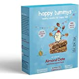 Happy Tummys Almond Date Snack Bars | Natural Energy Boost for Toddlers and Kids | Healthy Snack for Kids | Nutritious and Ready to Eat | (Pack of 5 Bars) | 125g